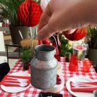Petit pot en zinc naturel 9 cm