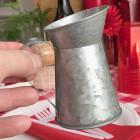 Petite cruche en zinc naturel 10 cm