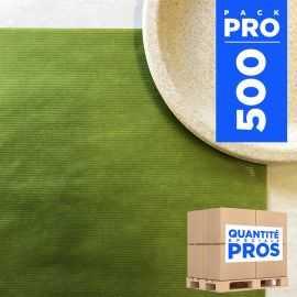 Sets de table papier kraft vert. 30 cm x 40 cm. Par 500.