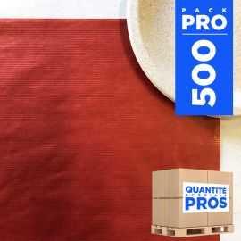 Sets de table papier kraft rouge 30x40 cm Par 500