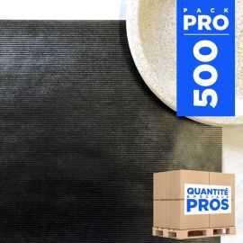 Sets de table papier kraft noir. 30 cm x 40 cm. Par 500.