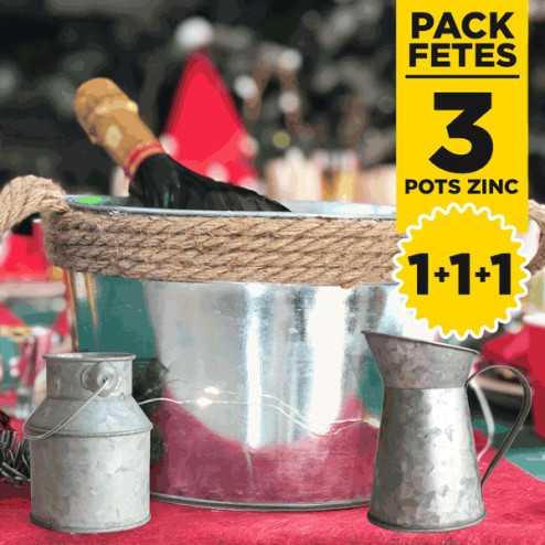 Pack centre de table ambiance zinc