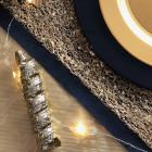Pack 50 fourchettes inox + 8 tortillons pailletés or