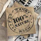 Pack chemin de table kraft + 40 Serviettes 100% nature