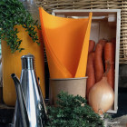 Serviette en non-tissé mandarine 40 x 40cm
