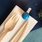 Marque-verre Pince-nappe macaron turquoise. Par 4