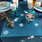 Pack 5 plateaux gris + chemin de table bonhome de neige