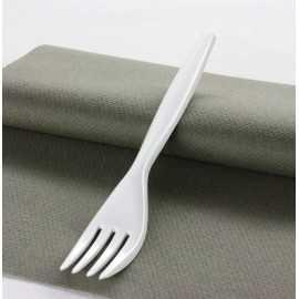 """Fourchettes plastique """"Style"""" Blanc"""
