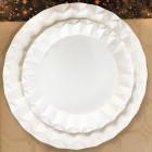 Assiette carton blanc design 18cm Par 50