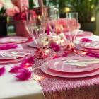 Plumes de décoration Fuchsia
