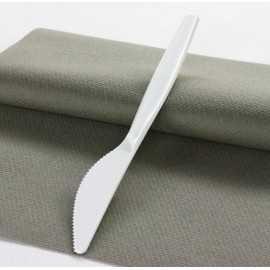 """Couteaux en plastique """"Style"""" Blanc"""