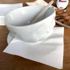 Serviettes en papier blanc 2 plis 33x33cm. Par 50