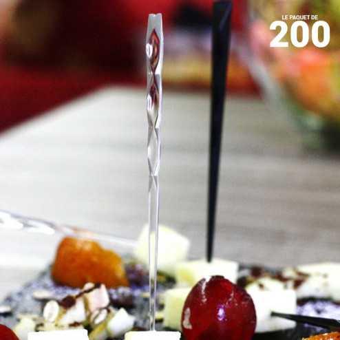 Pic cristal 10cm verrine Recyclable - Réutilisable. Par 200