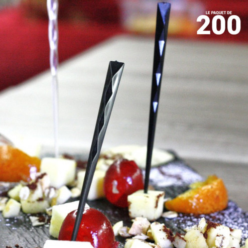 Pic noir 10cm verrine Recyclable - réutilisable Par 200
