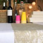 Chemin de table coton décor naturel 5 mètres
