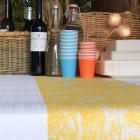 Chemin de table décor jaune 5 mètres