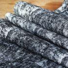 Pack chemin décor noir + 40 serviettes soft fuchsia