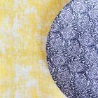 Pack chemin décor jaune + 40 serviettes soft turquoise