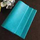 Serviette en non-tissé turquoise 40 x 40cm