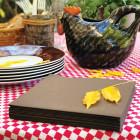 Serviette en non-tissé chocolat 40 x 40cm