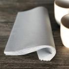 Serviette en non-tissé gris béton 40 x 40cm