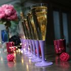 Pack 100 flûtes lilas Lavables - réutilisables