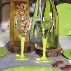 Pack 100 verres vert anis Lavables - réutilisables