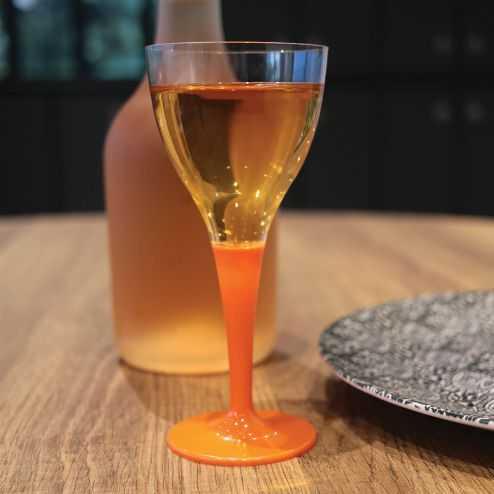 Pack 100 verres orange Lavables - réutilisables