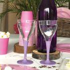 Pack 100 verres lilas Lavables - réutilisables