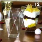 Verrine Diamant cristal 15cl Recyclable - réutilisables. par 12