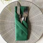 Serviette en non-tissé vert sapin 40 x 40cm