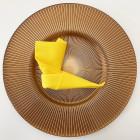 Serviette en non-tissé jaune citron 40 x 40cm