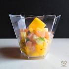 Verrine Hexagonale cristal 10cl Recyclable - réutilisable Par 25