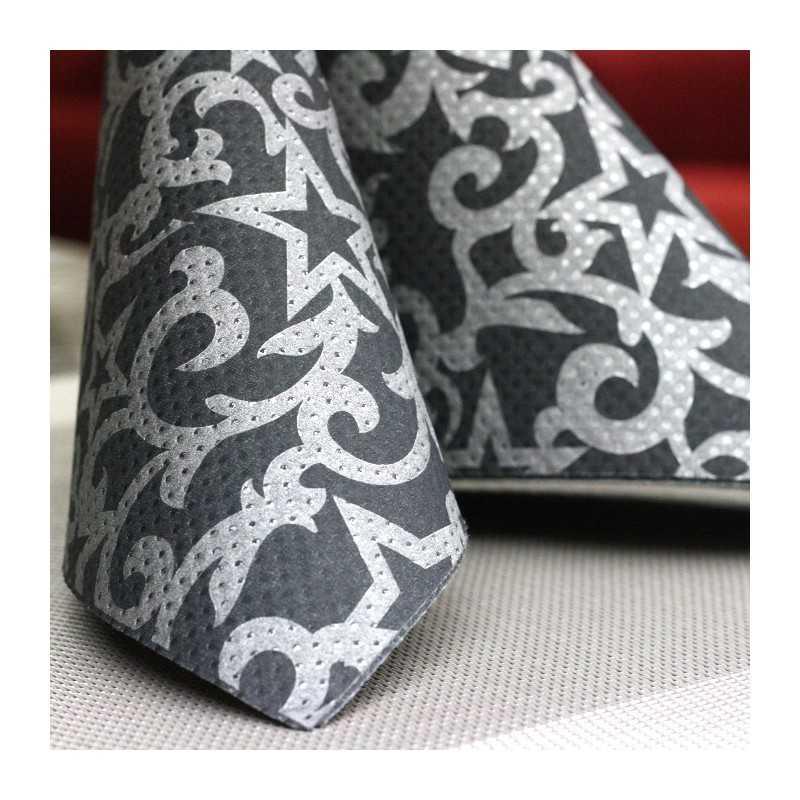 serviette ethik chic 40 x 40 etoiles vaisselle jetable discount. Black Bedroom Furniture Sets. Home Design Ideas