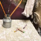 Chemin de table coton pastel naturel 5 mètres