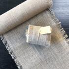 Pack chemin de table + ruban 5m jute à franges
