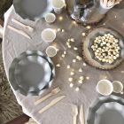 20 Assiettes pétale 27cm grises biodégradables et compostables