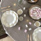 20 Assiettes pétale 27cm blanches biodégradables et compostables