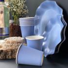 20 Gobelets bleus 25cl Biodégradables et compostables