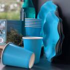 20 Gobelets turquoise 25cl Biodégradables et compostables
