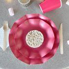 Pack 40 assiettes rouges 100% Bio et compostables 21 et 27 cm