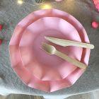 Pack rose 100% Bio 40 assiettes + 20 gobelets biodégradables et compostables