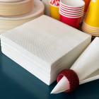 50 serviettes papier blanc 38 x 38cm Soft