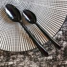 2000 Grandes cuillères luxe noires Lavables - réutilisables