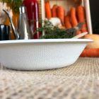 1000 coupelles plates 46cl biodégradables et compostables