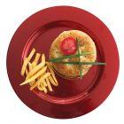 132 Assiettes luxe rouges 24cm Recyclables - réutilisables
