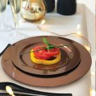 132 Assiettes luxe chocolat 24cm Recyclables - réutilisables