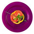96 Assiettes luxe prune 19cm Recyclables - réutilisables