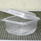 Barquette plastique chaleur avec couvercle 500gr