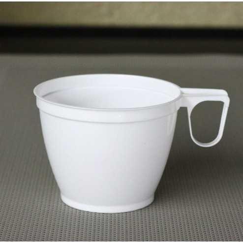 Tasses à café plastique blanche 18 cl